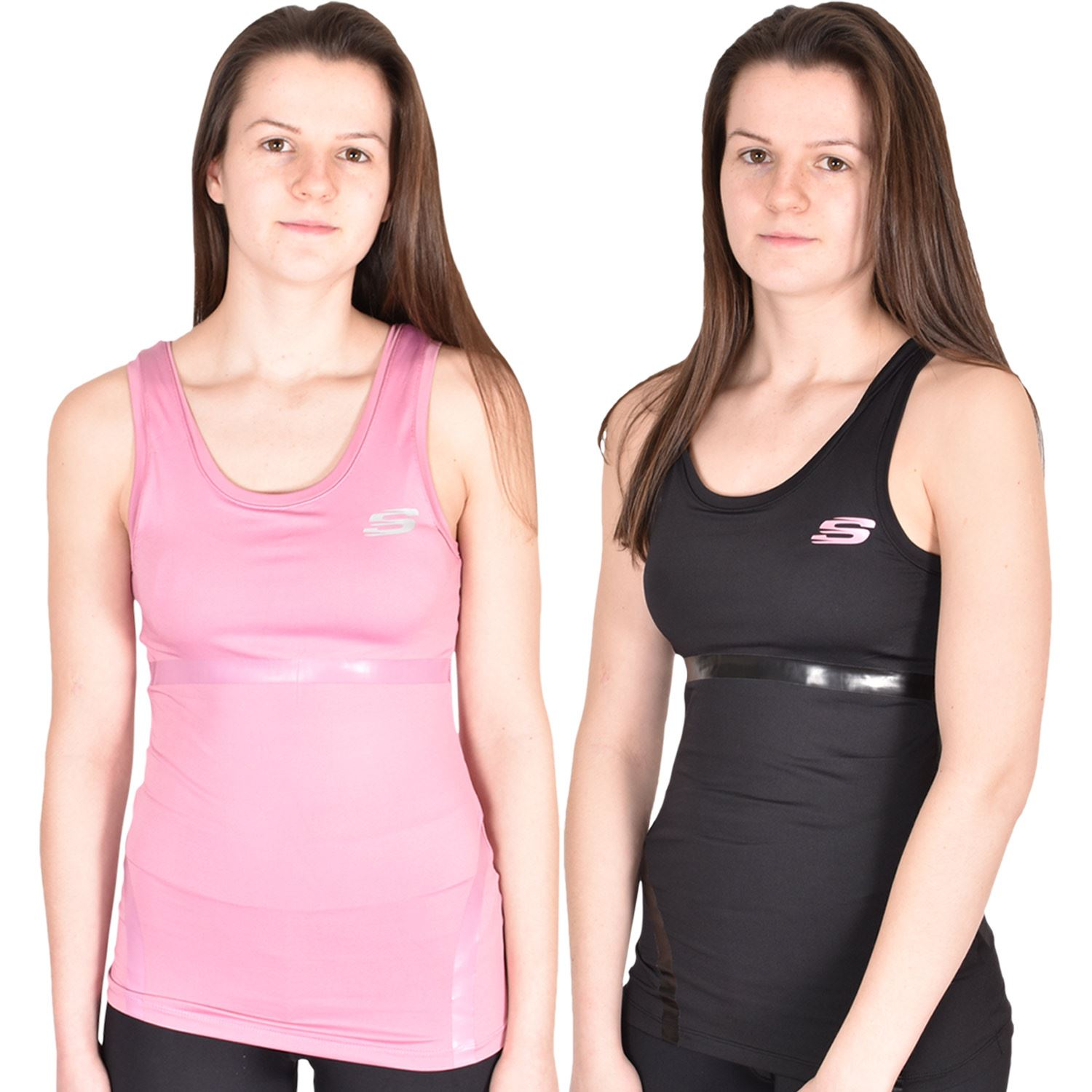 Details about Skechers Womens Vest Gym Support Bra Ladies Activewear Tops  Sports Fitness Yoga 4568e9598c8f