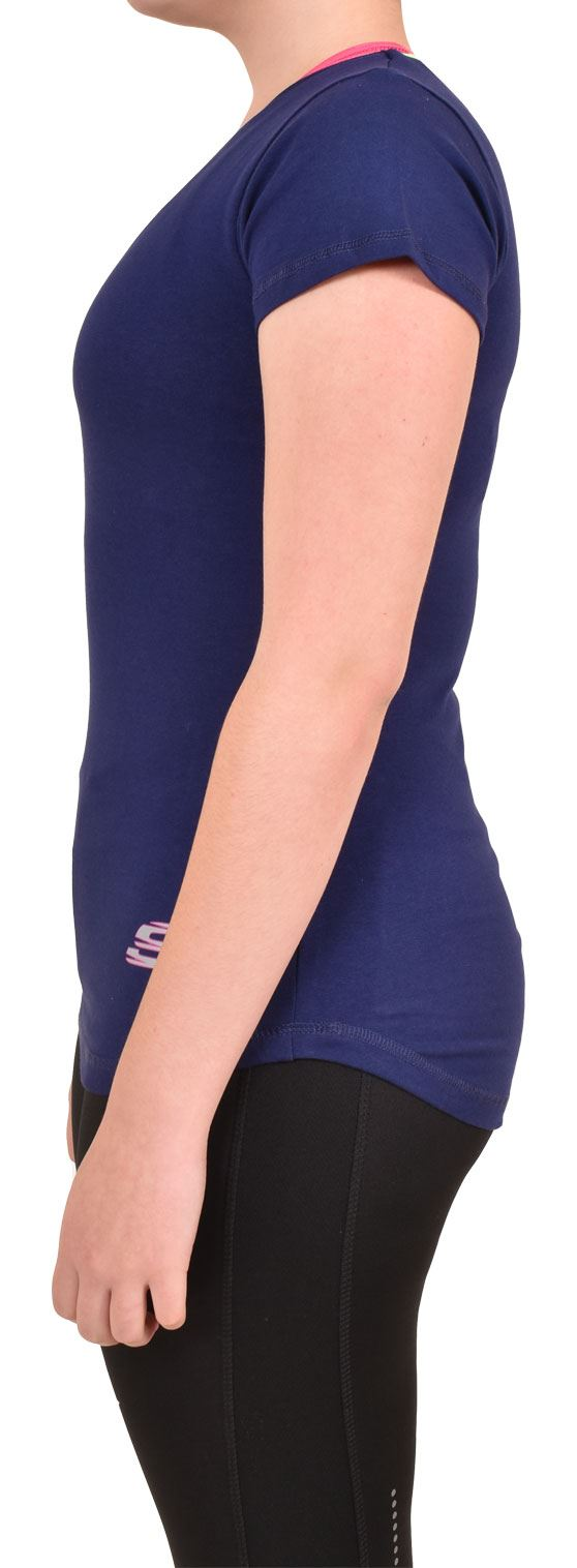 Camiseta-Para-Mujer-Elastico-Damas-Deportes-Skechers-Top-Secado-Rapido-Baile-Fitness-Gym miniatura 8