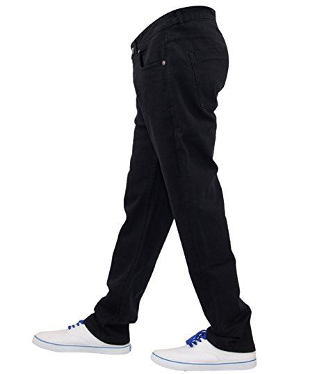 Mens-Regular-Fit-Jeans-Straight-Leg-Stretch-Denim-Cotton-Pants-Casual-Trousers thumbnail 4