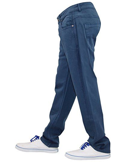 Mens-Slim-Fit-Pantalones-Pantalones-Vaqueros-Crosshatch-Stretch-Denim-Cintura-Tallas-30-38 miniatura 14