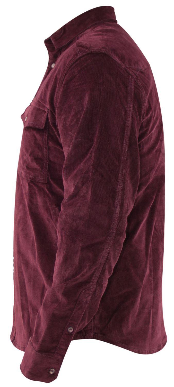 Mens-Corduroy-Cotton-Shirt-Long-Sleeve-Casual-Shirts-Jacksouth-Jacket-Top-S-2XL thumbnail 16