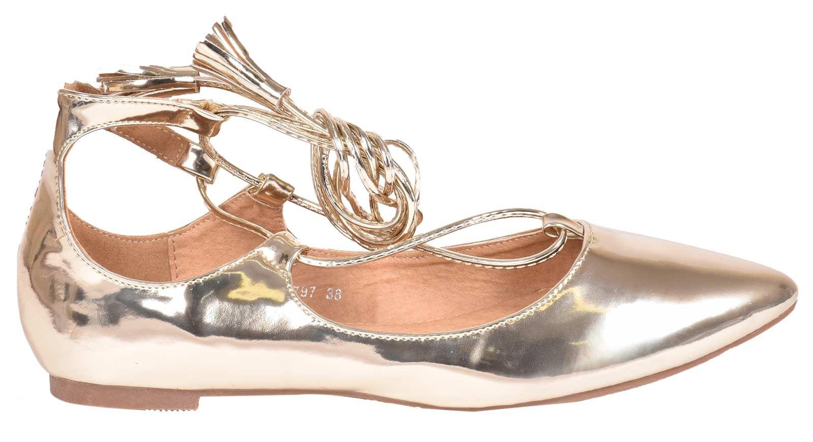 ladies//womens stunning silver flat boat pumps ballet ballerinas size 345678