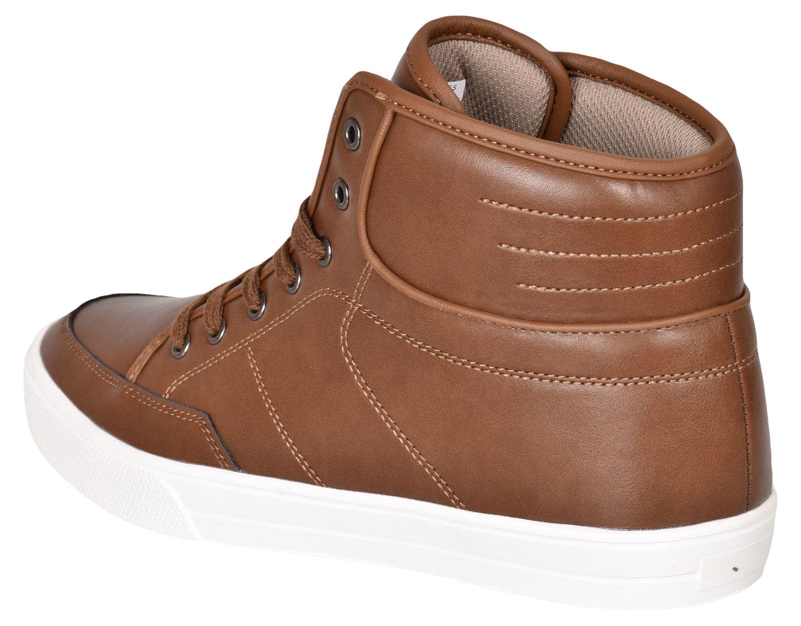 Crosshatch-Para-hombre-Tobillo-Alto-Zapatillas-Sneaker-Con-Cordones-Tapas-Planas-Botas-UK-Tamanos-7 miniatura 30