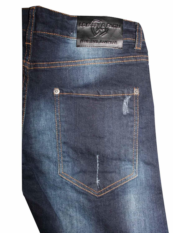 Para-Hombre-Biker-Skinny-Jeans-lealtad-amp-Faith-Slim-Fit-Pantalones-Ajustados-Pantalones-rasgada miniatura 21