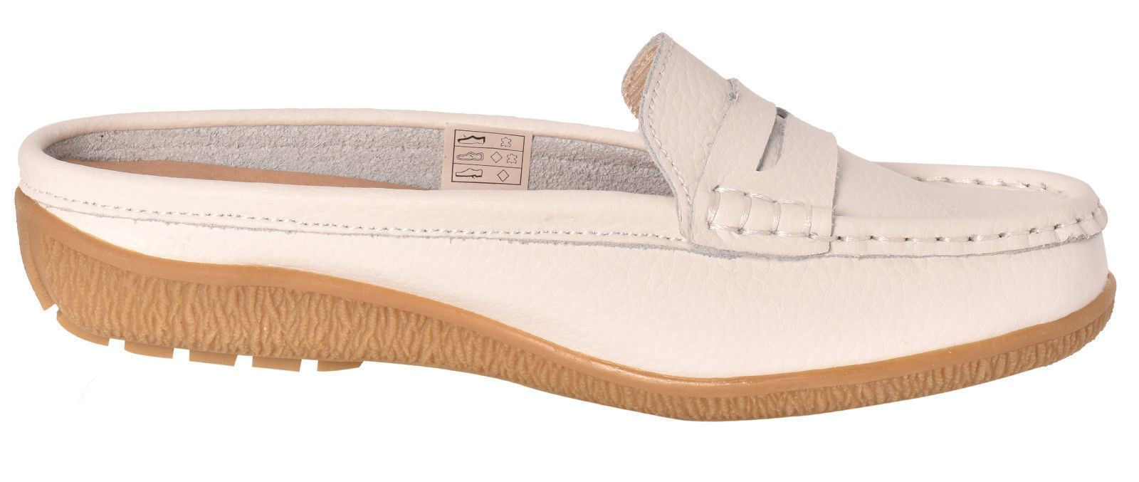 Ladies-Leather-Loafer-Mules-Comfort-Shoes-Womens-Slider-Moccasins-Shoes thumbnail 39