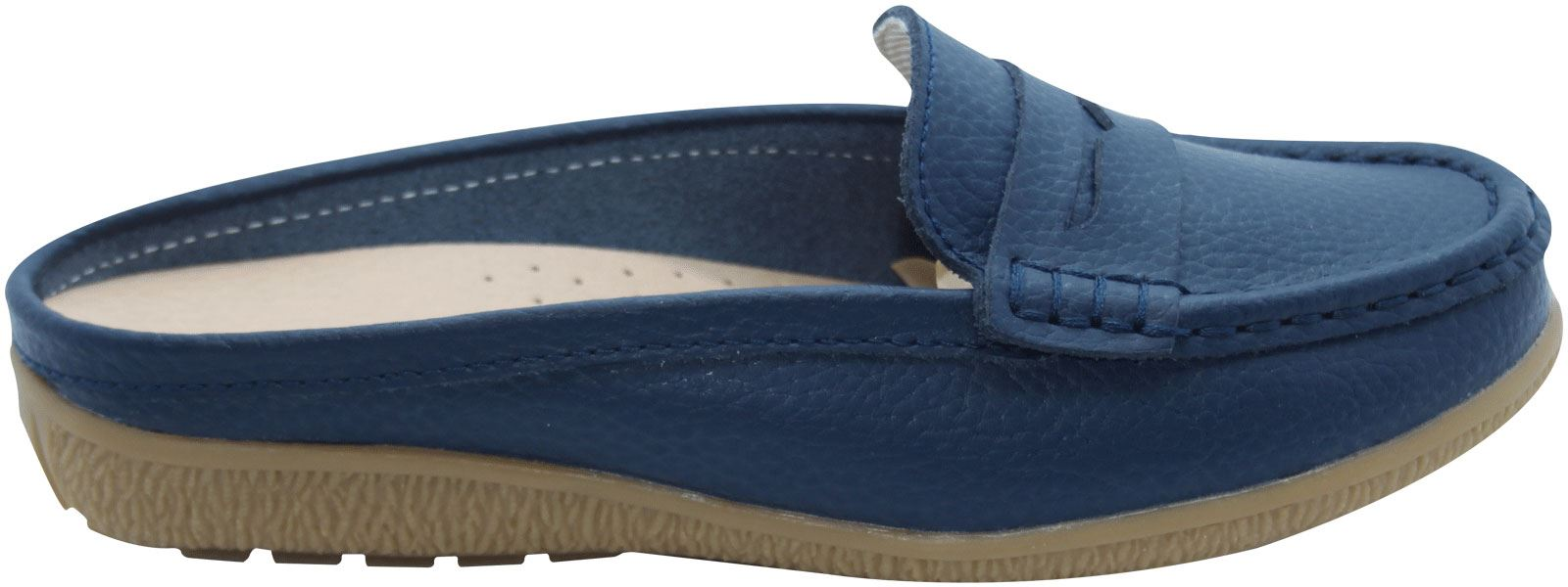 Ladies-Leather-Loafer-Mules-Comfort-Shoes-Womens-Slider-Moccasins-Shoes thumbnail 9
