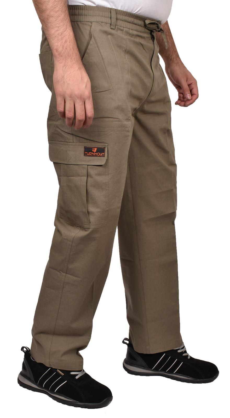 Para-Hombre-De-Carga-Combate-Pantalones-De-Trabajo-Bolsillos-Patrulla-Tactico-Pro-Algodon-Pantalones miniatura 16