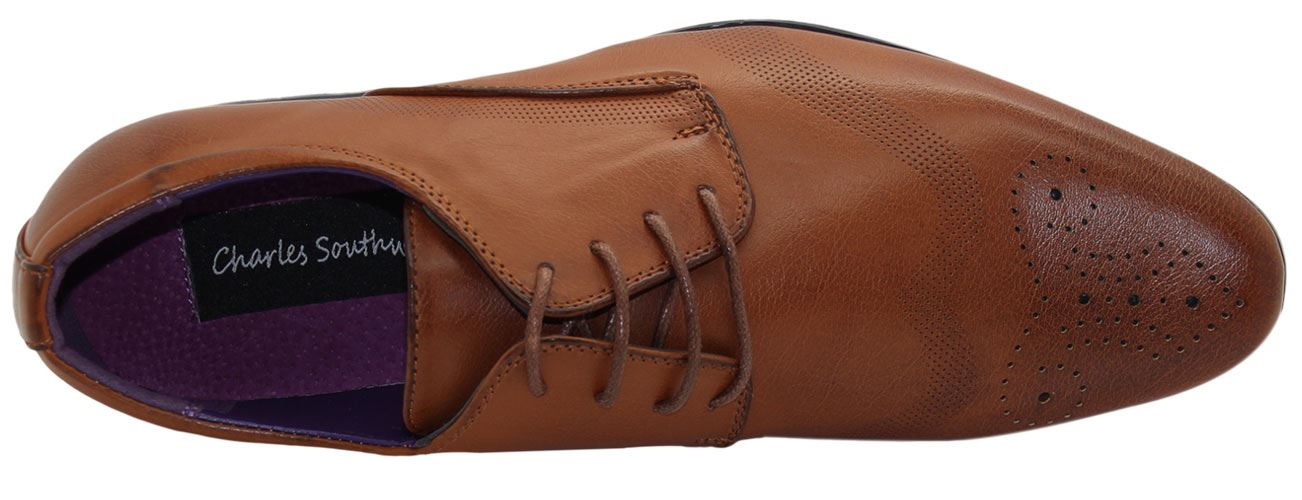 Mens-UK-Style-Leather-Lining-Formal-Office-Wedding-Smart-Work-Brogue-Shoes thumbnail 117