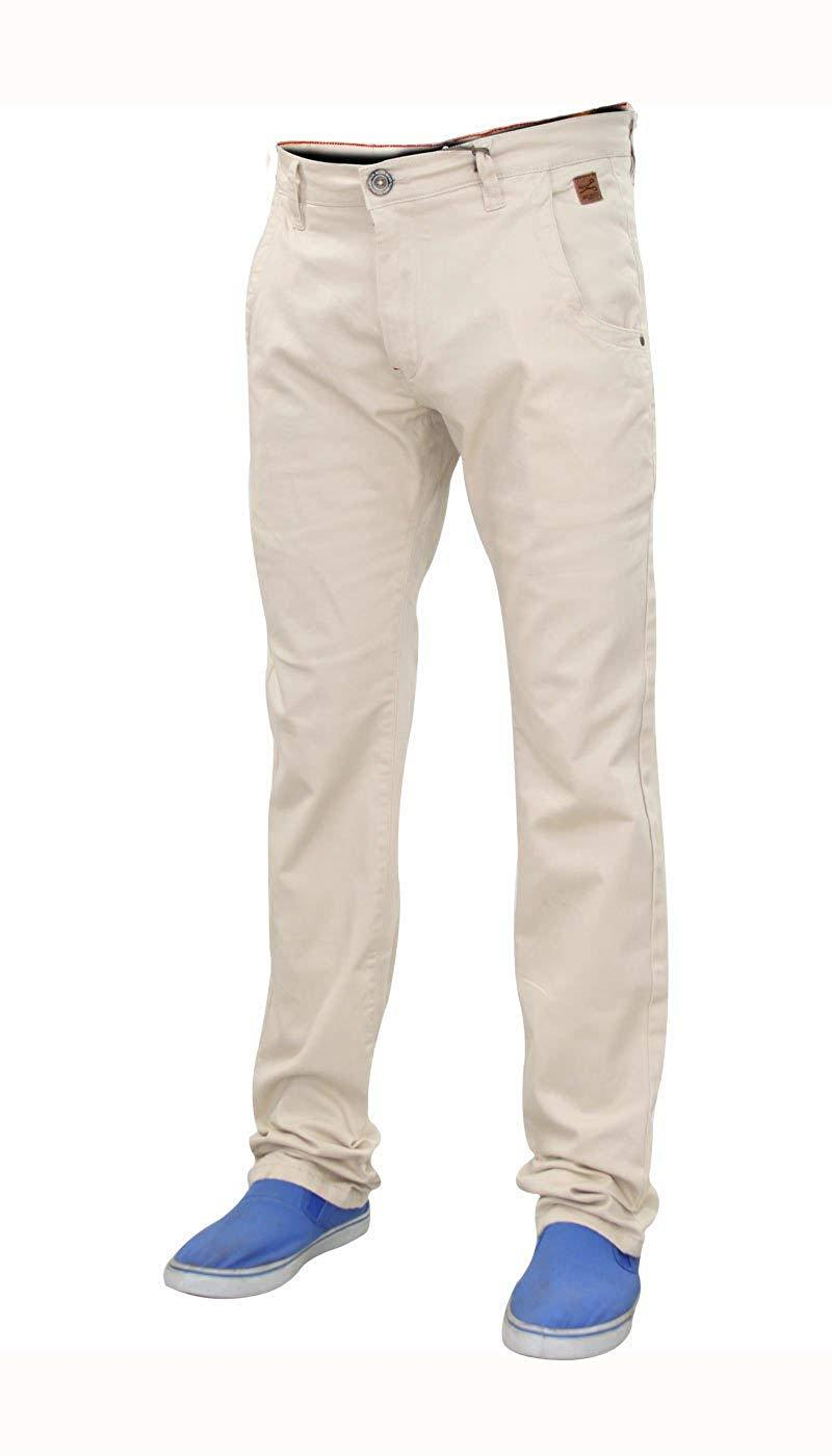 Men-Chinos-Regular-Fit-Jeans-Cotton-Stretch-Casual-Pants-Trousers-All-Waist-Size thumbnail 13