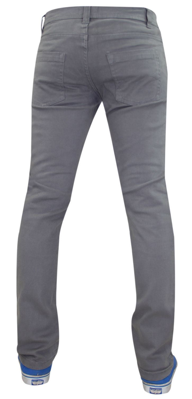 Mens-Jeans-Ajustados-Slim-Fit-Denim-Sarga-de-algodon-elastico-Pantalones-Chinos-Pantalones miniatura 10
