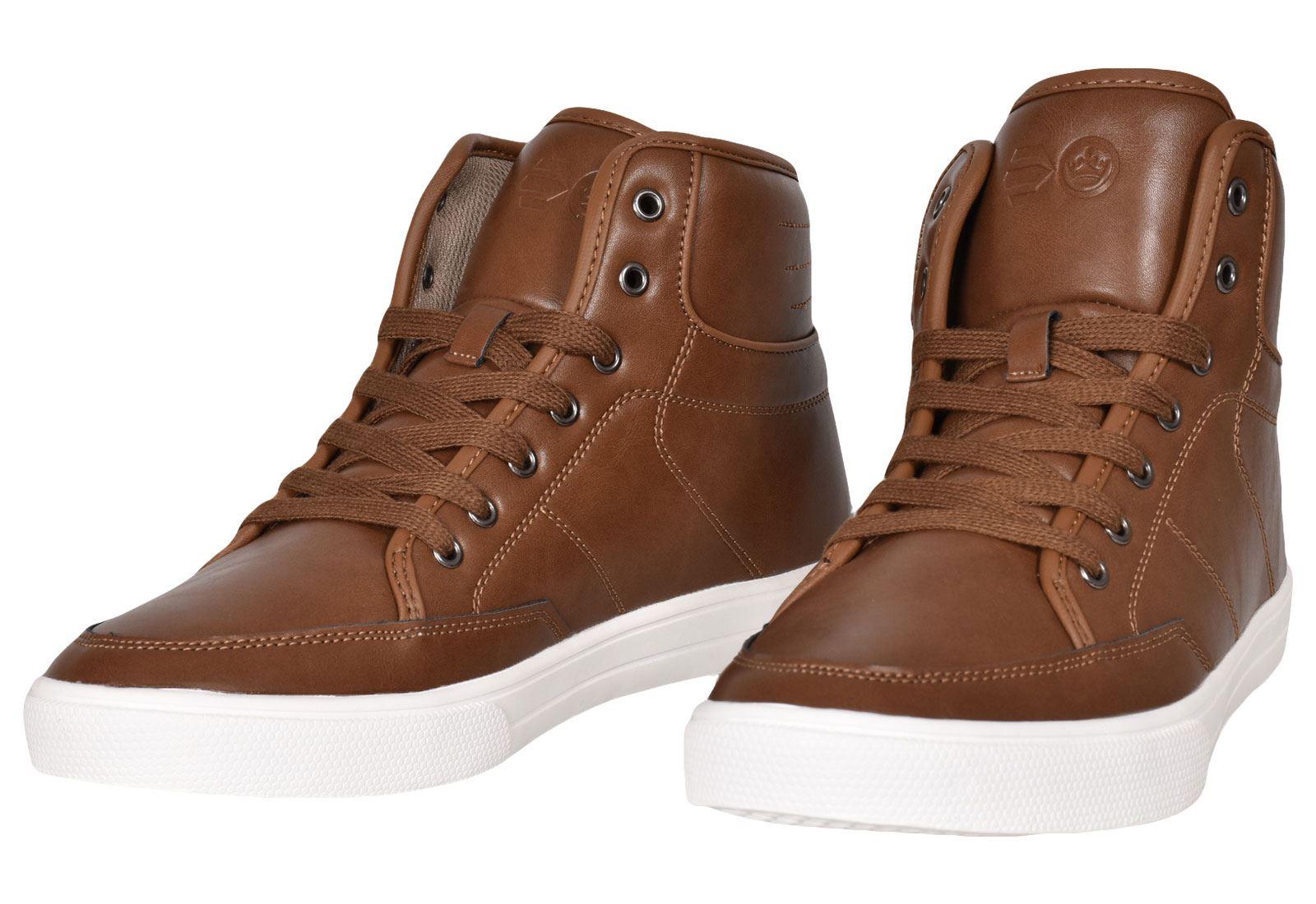 Crosshatch-Para-hombre-Tobillo-Alto-Zapatillas-Sneaker-Con-Cordones-Tapas-Planas-Botas-UK-Tamanos-7 miniatura 25