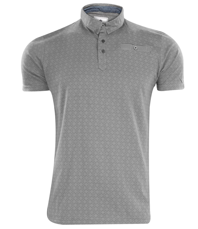 3ad2ae6a09f Nuevo para hombre con estampado impreso botón bolsillo algodón manga corta  Polo T Shirt Casual