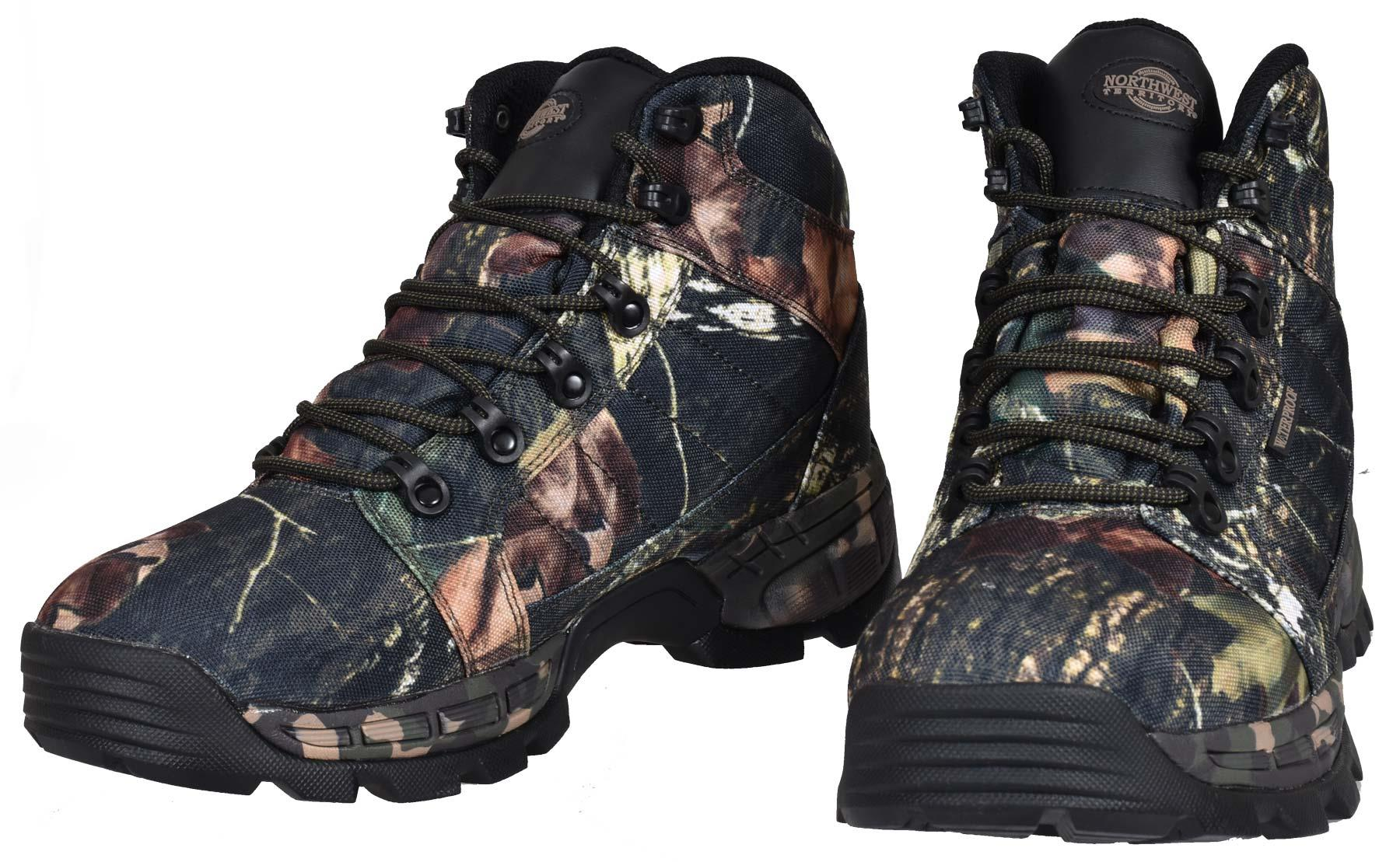 Mens Ankle Boots Northwest Territory Camoflauge Walking Hiking Lace up Shoes
