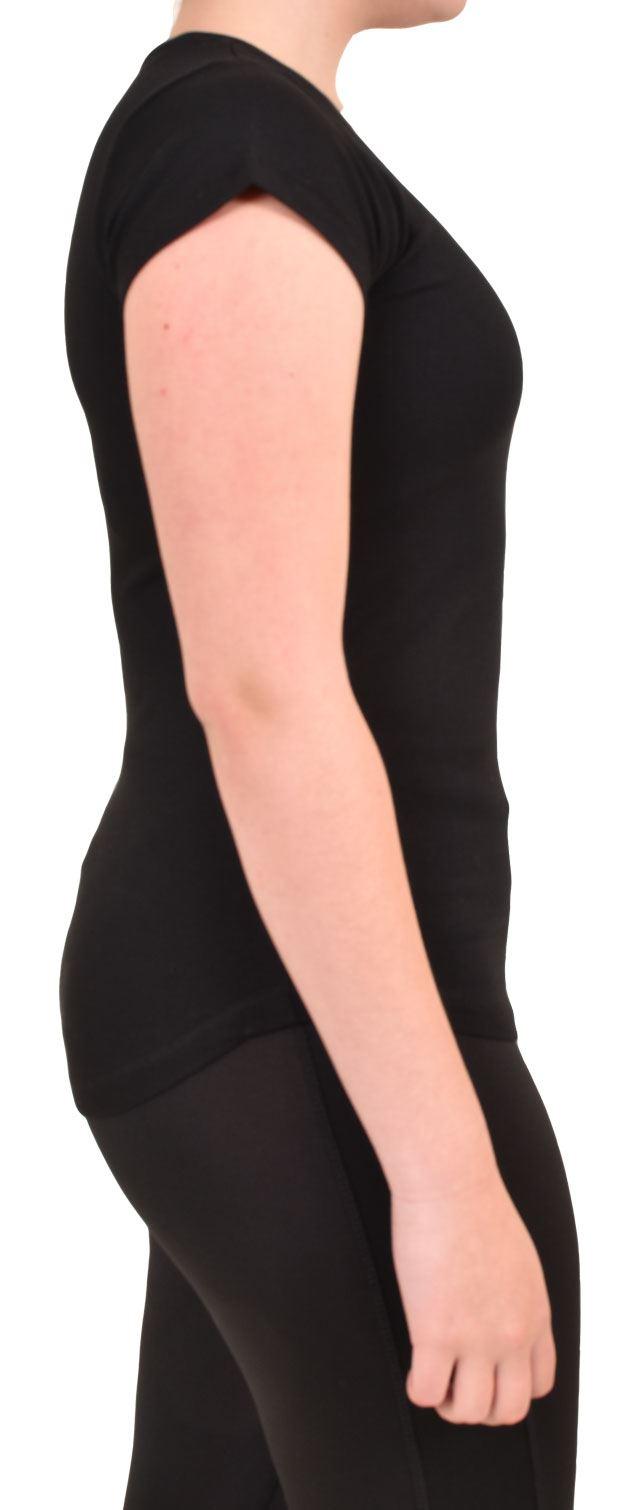 Camiseta-Para-Mujer-Elastico-Damas-Deportes-Skechers-Top-Secado-Rapido-Baile-Fitness-Gym miniatura 3