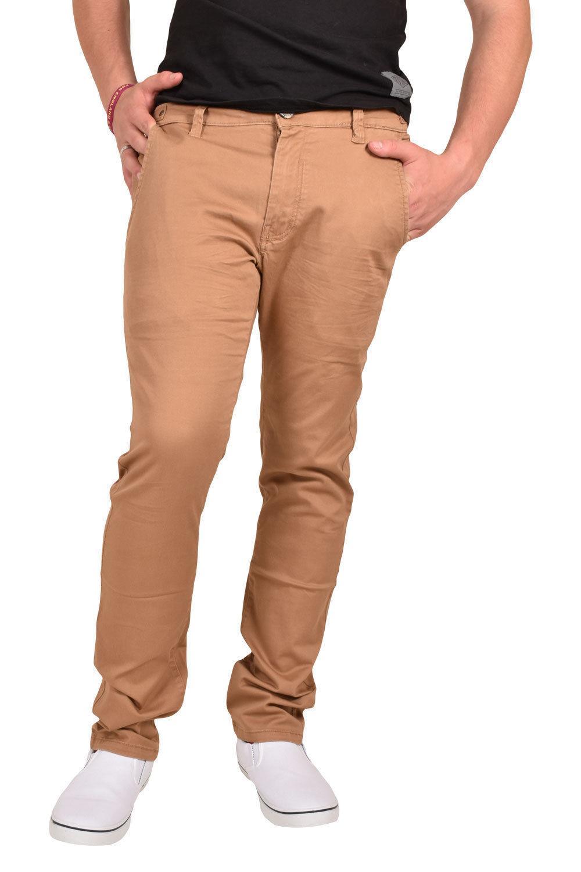 Uomo NUOVI Gamba Dritta Jeans Chino Stretch Nero Bianco Grigio Blu Scuro Pantaloni Di Marca