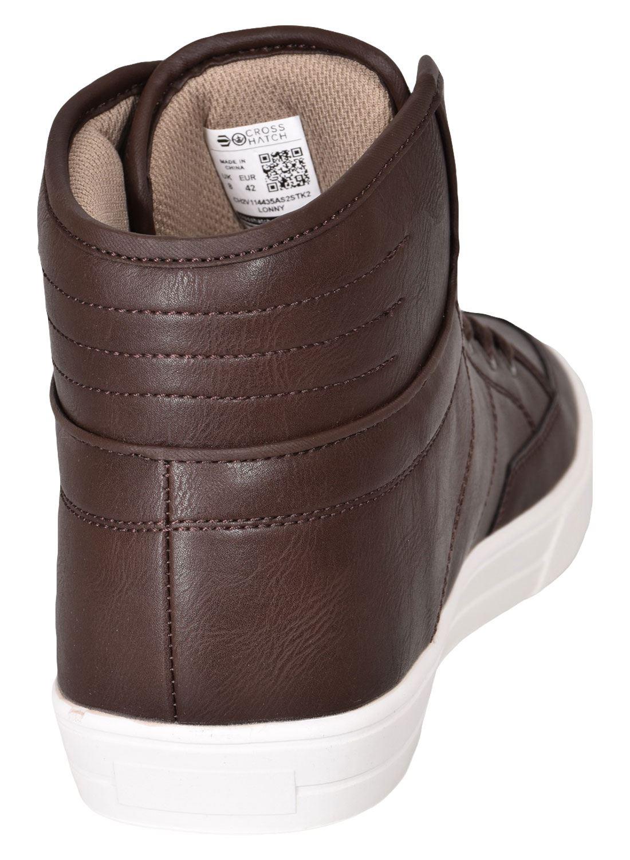 Crosshatch-Para-hombre-Tobillo-Alto-Zapatillas-Sneaker-Con-Cordones-Tapas-Planas-Botas-UK-Tamanos-7 miniatura 53