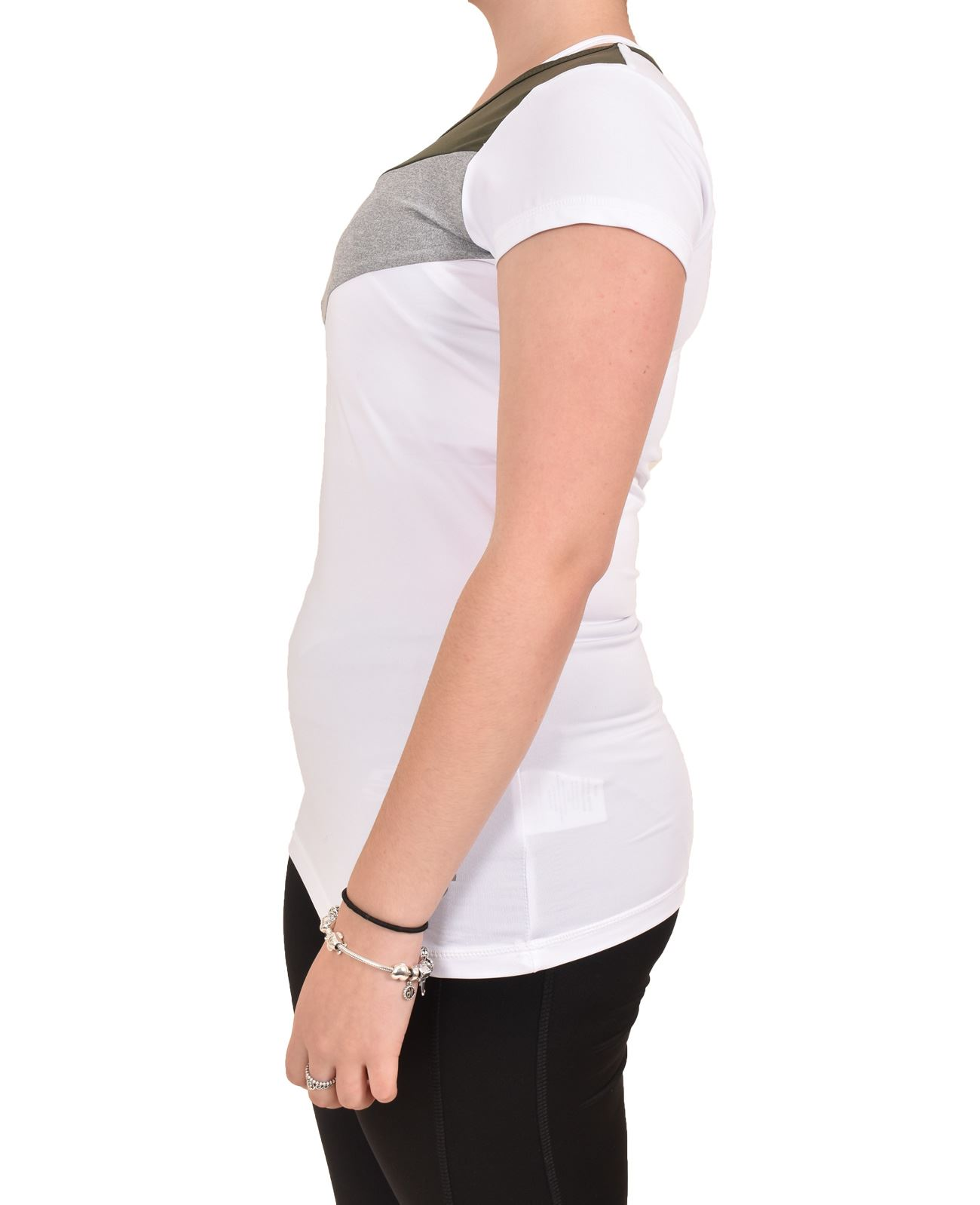 Camiseta-para-mujer-Skechers-Secado-Rapido-Top-senoras-de-Deportes-Activewear-Gimnasio-Fitness-Dance miniatura 15