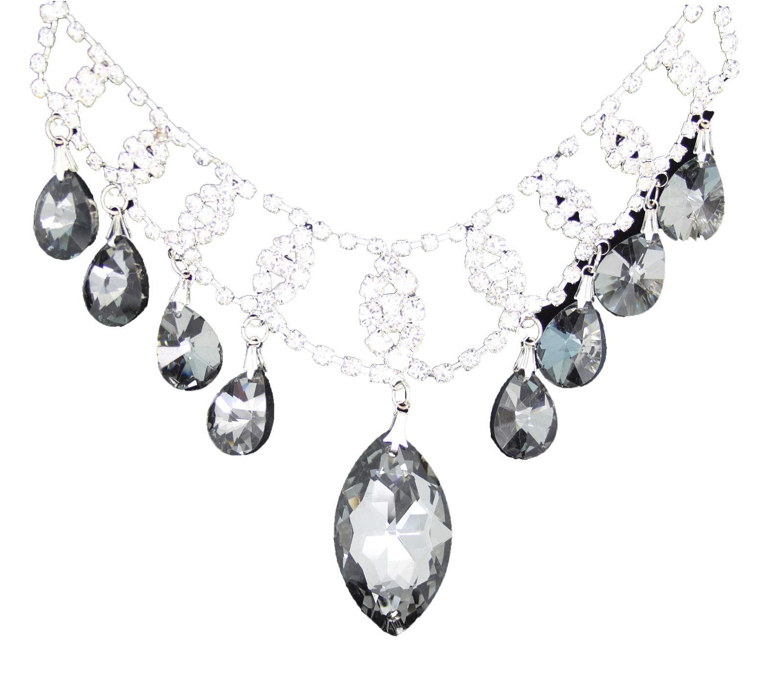 True-Face-Ladies-Women-039-s-Elegant-Earrings-Necklace-Set-Metal-Alloy-Jewellery thumbnail 4