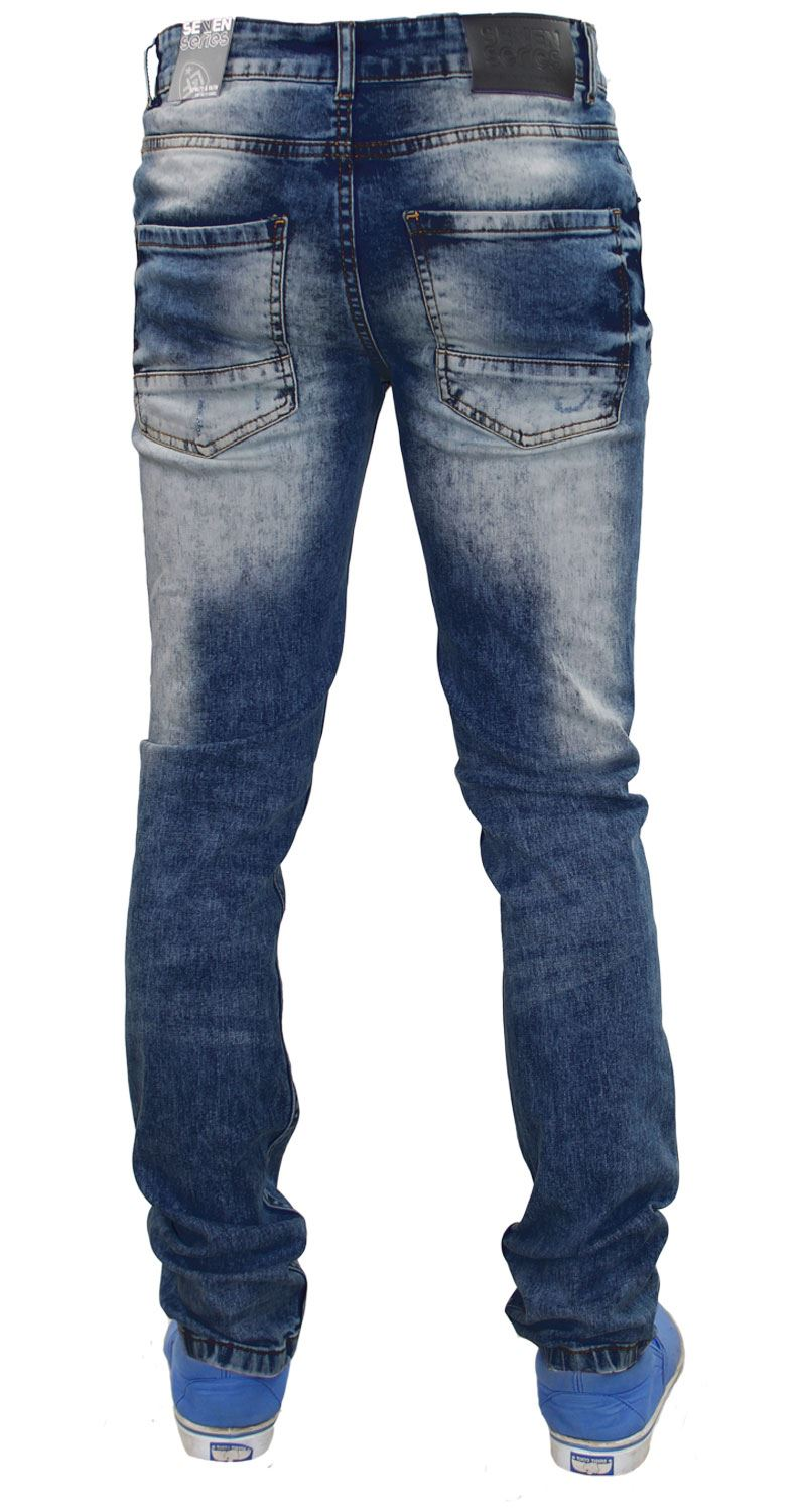 Mens-Ripped-Jeans-Slim-Fit-Skinny-Denim-Stretch-Pants-Cotton-Trousers-28-to-38 thumbnail 4