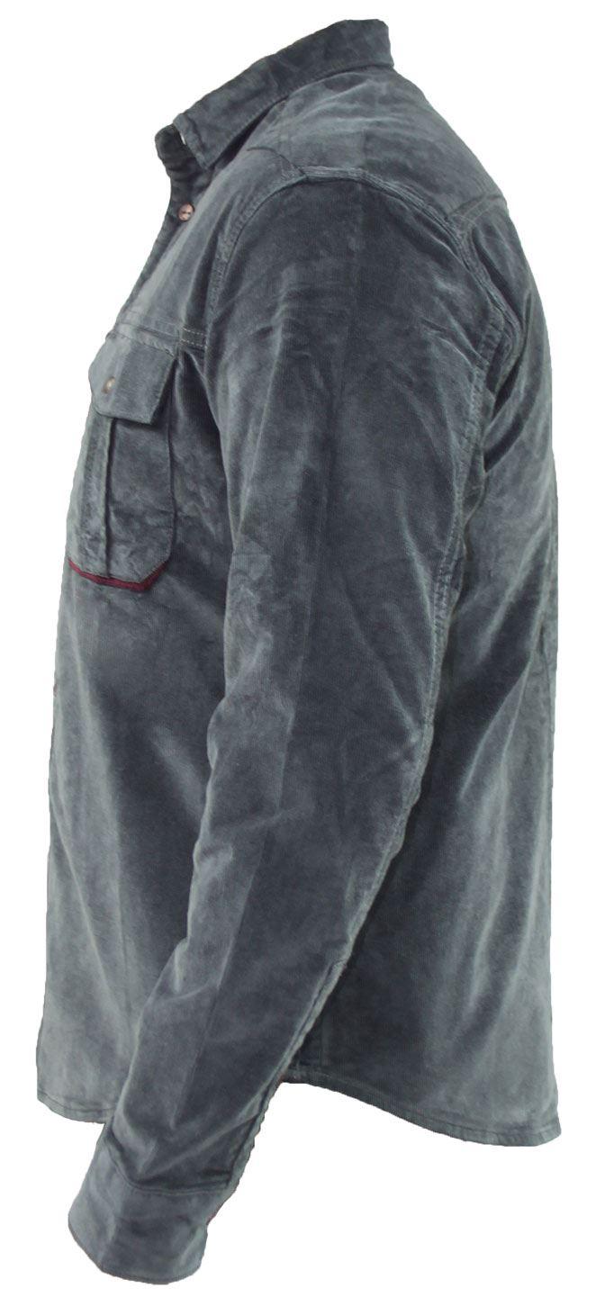 Mens-Corduroy-Cotton-Shirt-Long-Sleeve-Casual-Shirts-Jacksouth-Jacket-Top-S-2XL thumbnail 25