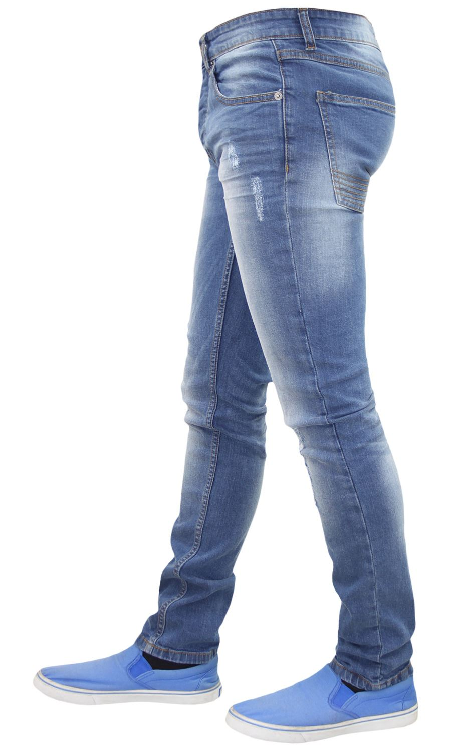 Mens-Skinny-Stretch-Ripped-Jeans-Slim-Fit-Casual-Trousers-Denim-Pants-All-Sizes thumbnail 19
