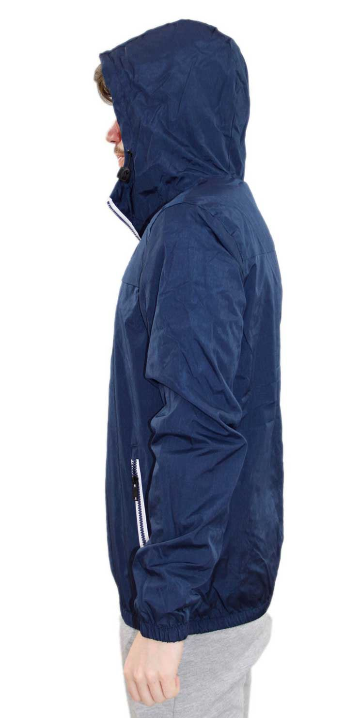 Details zu New Mens Kangol Designer Windbreaker Summer Mesh Lined Jacket Hooded Zip Coat