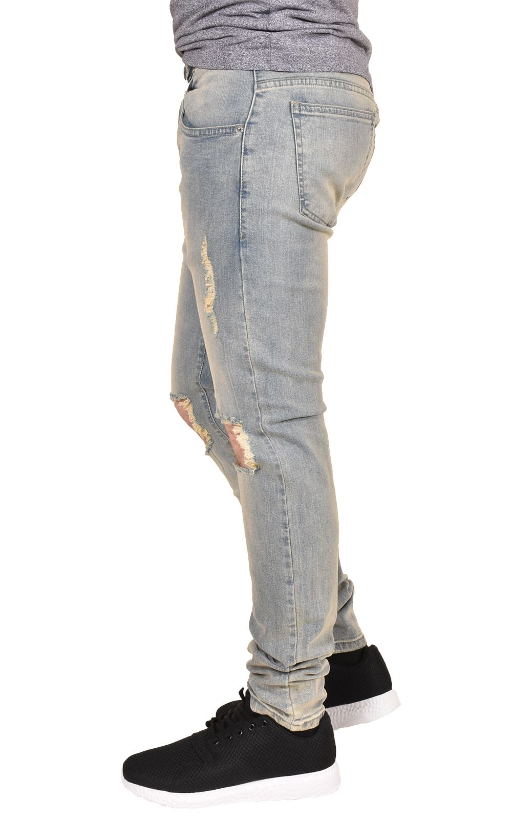 Mens-Ripped-Jeans-Skinny-Slim-Fit-Stretch-Distressed-Denim-Pants-Trousers-28-40 thumbnail 9