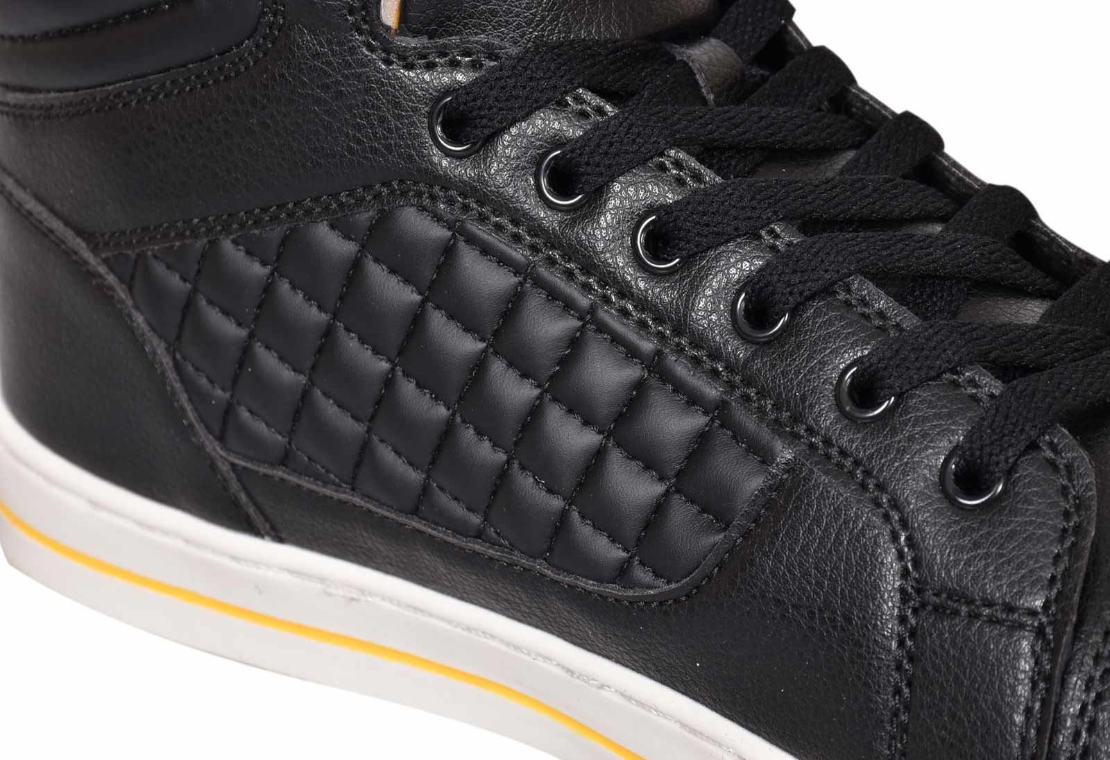 Mens-Trainers-Lace-up-Crosshatch-High-Tops-Ankle-Padded-Shoes-New-UK-Sizes-7-12 thumbnail 8