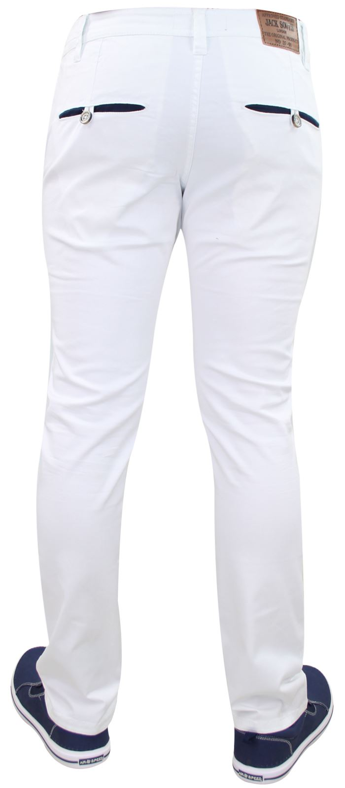 Men-Chinos-Trousers-Regular-Fit-Stretch-Cotton-Jeans-Pants-All-Waist-Sizes thumbnail 29