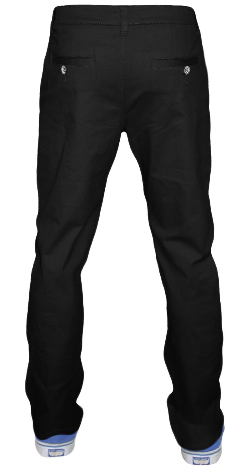 Men-Chinos-Regular-Fit-Jeans-Cotton-Stretch-Casual-Pants-Trousers-All-Waist-Size thumbnail 4
