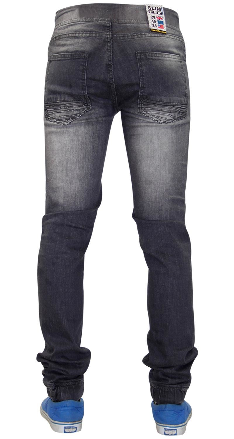 Mens-Ripped-Jeans-Slim-Fit-Distressed-Denim-Biker-Pants-Casual-Cuffed-Trousers thumbnail 17