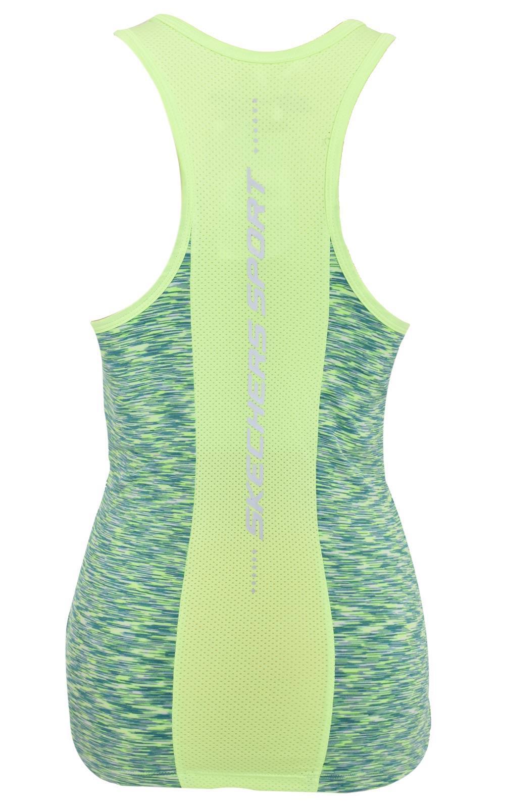 Skechers-senoras-Sujetador-Deportivo-Gimnasio-Atletico-textura-de-malla-Top-Yoga-Chaleco-Active-Wear miniatura 10