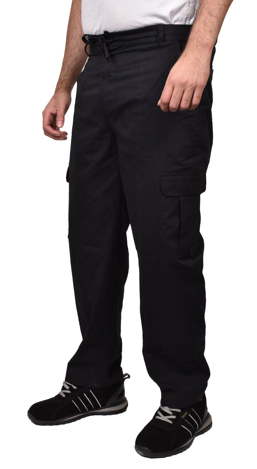 Para-Hombre-De-Carga-Combate-Pantalones-De-Trabajo-Bolsillos-Patrulla-Tactico-Pro-Algodon-Pantalones miniatura 3