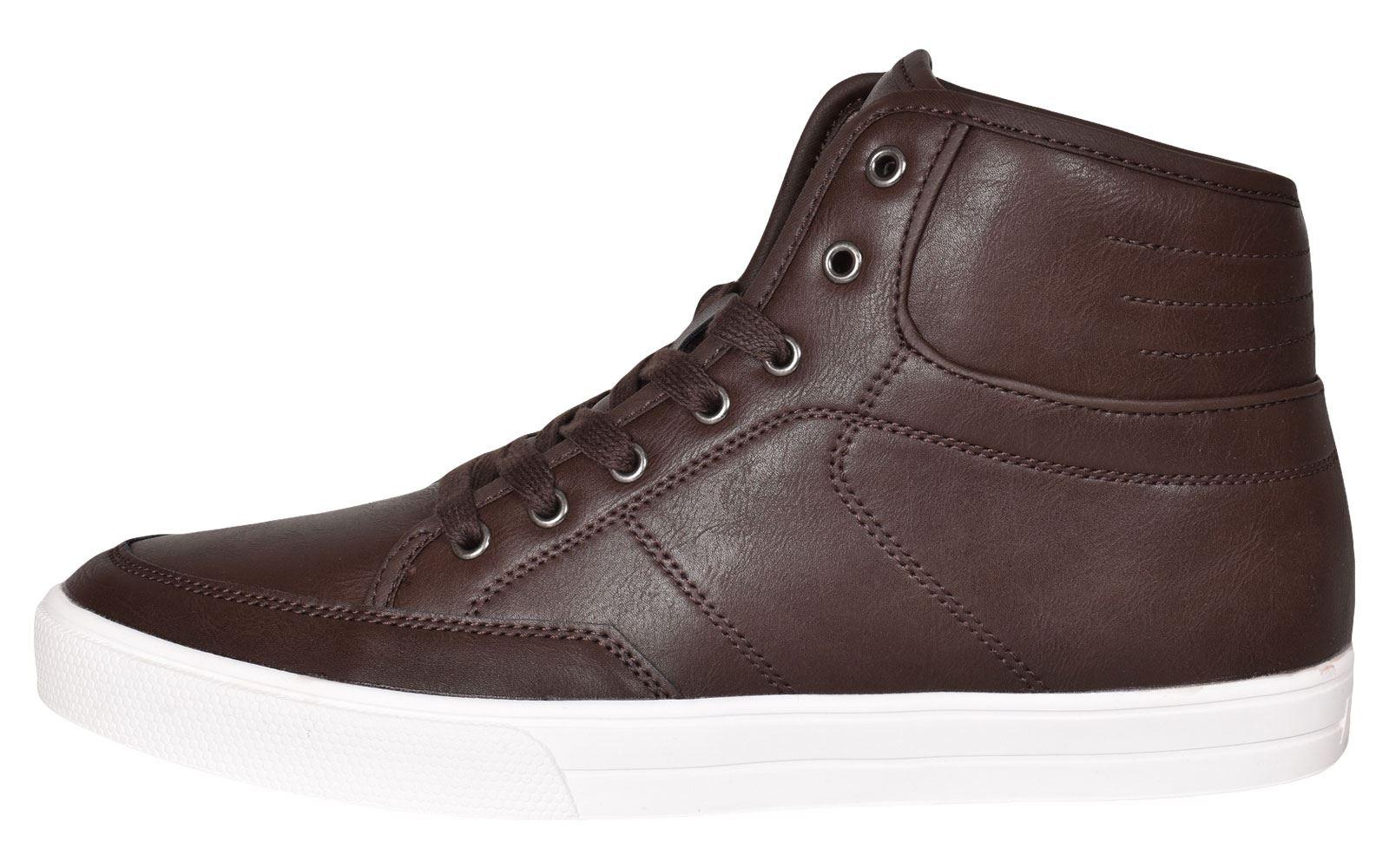 Crosshatch-Para-hombre-Tobillo-Alto-Zapatillas-Sneaker-Con-Cordones-Tapas-Planas-Botas-UK-Tamanos-7 miniatura 48