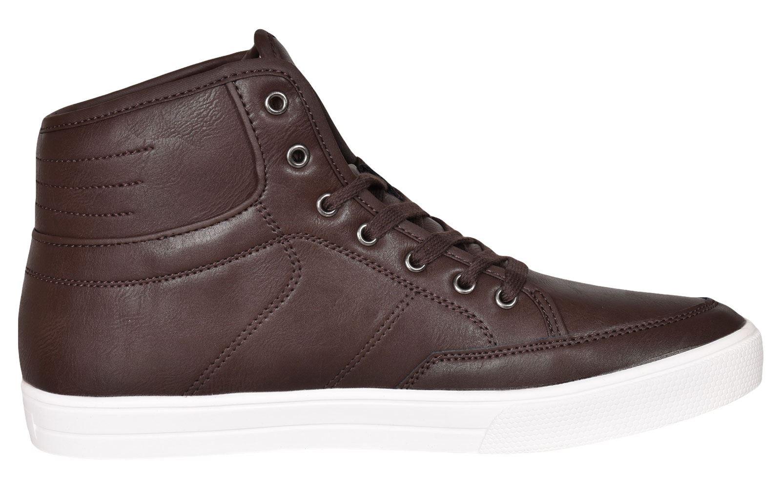 Crosshatch-Para-hombre-Tobillo-Alto-Zapatillas-Sneaker-Con-Cordones-Tapas-Planas-Botas-UK-Tamanos-7 miniatura 49