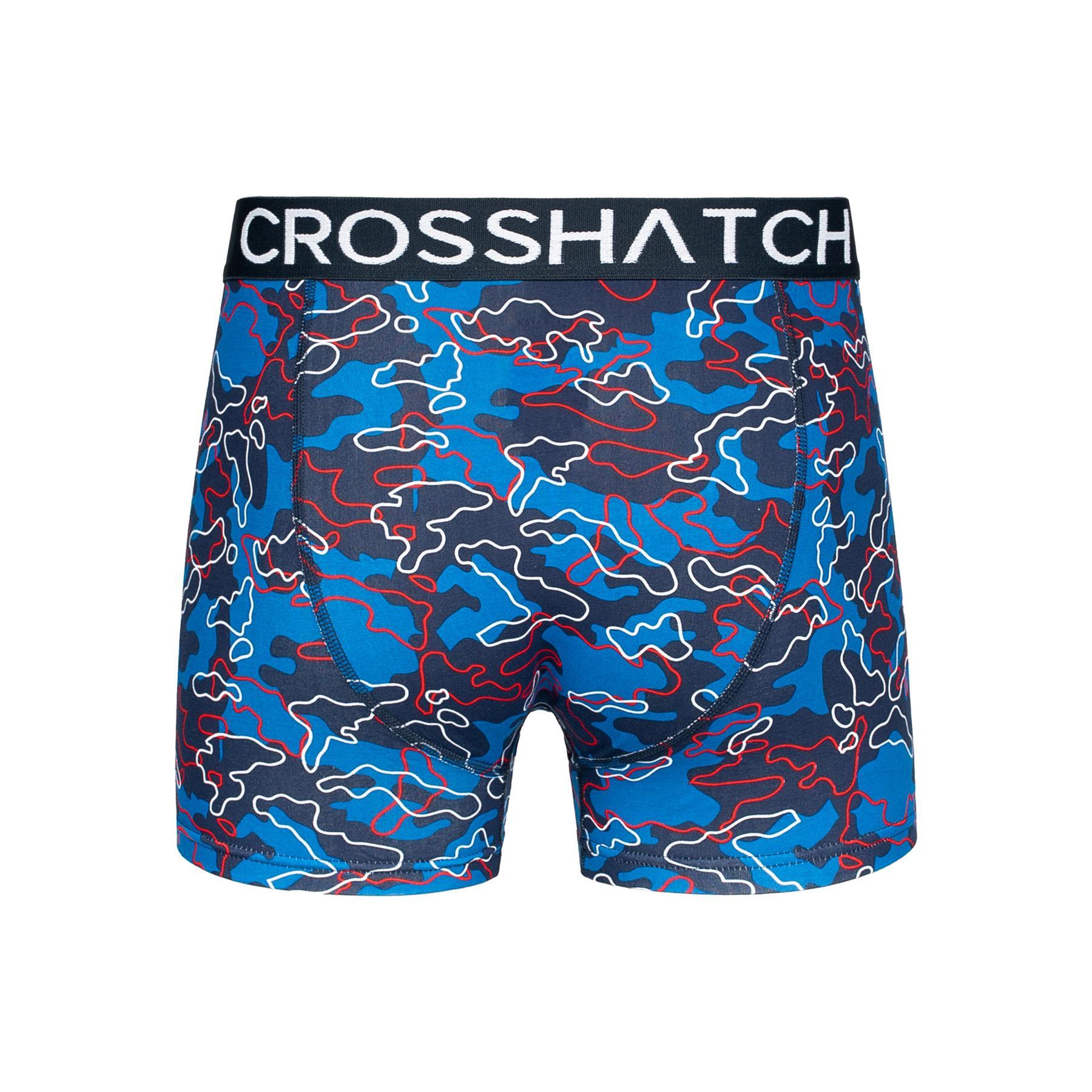 thumbnail 16 - Mens Crosshatch Boxers 3 Pack Shorts Underwear Trunks Underpants Multipack Sets