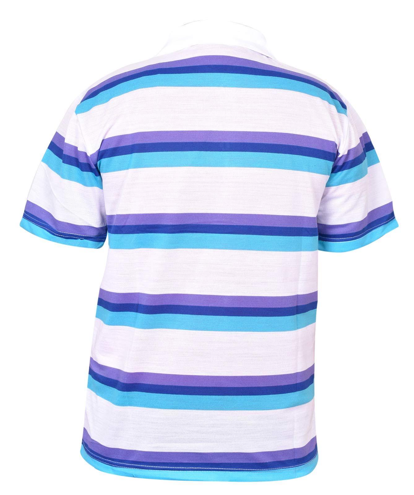 Mens-T-Shirts-Yarn-Dyed-Strip-Pocket-Polo-Shirt-Top-Multi-Colour-Size-M-3XL thumbnail 46