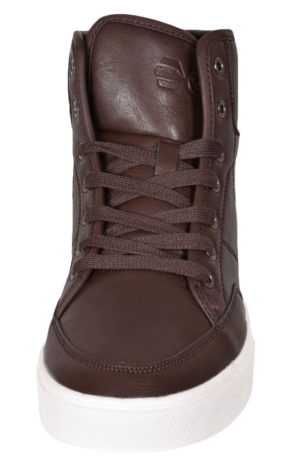 Crosshatch-Para-hombre-Tobillo-Alto-Zapatillas-Sneaker-Con-Cordones-Tapas-Planas-Botas-UK-Tamanos-7 miniatura 51