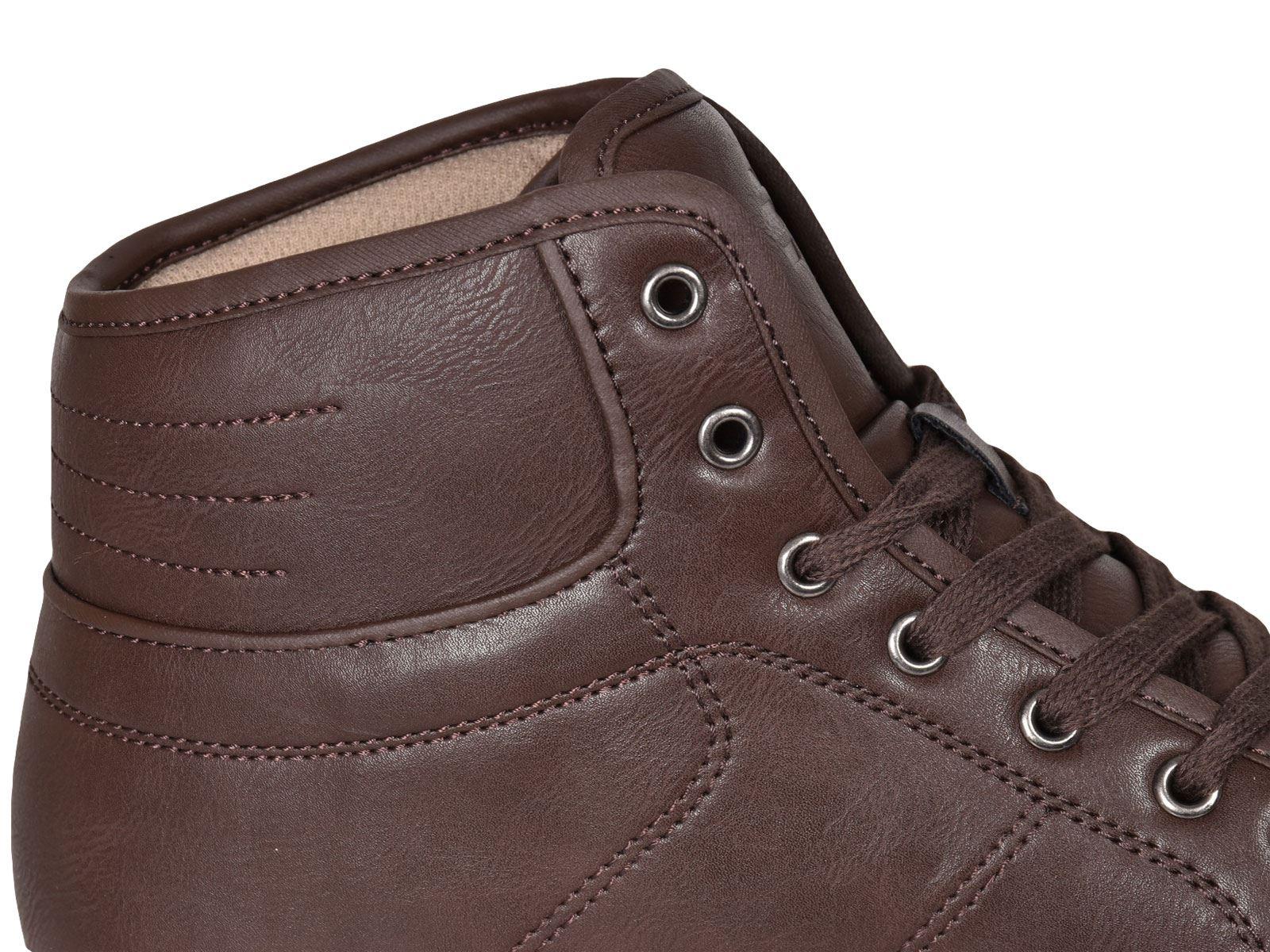 Crosshatch-Para-hombre-Tobillo-Alto-Zapatillas-Sneaker-Con-Cordones-Tapas-Planas-Botas-UK-Tamanos-7 miniatura 55