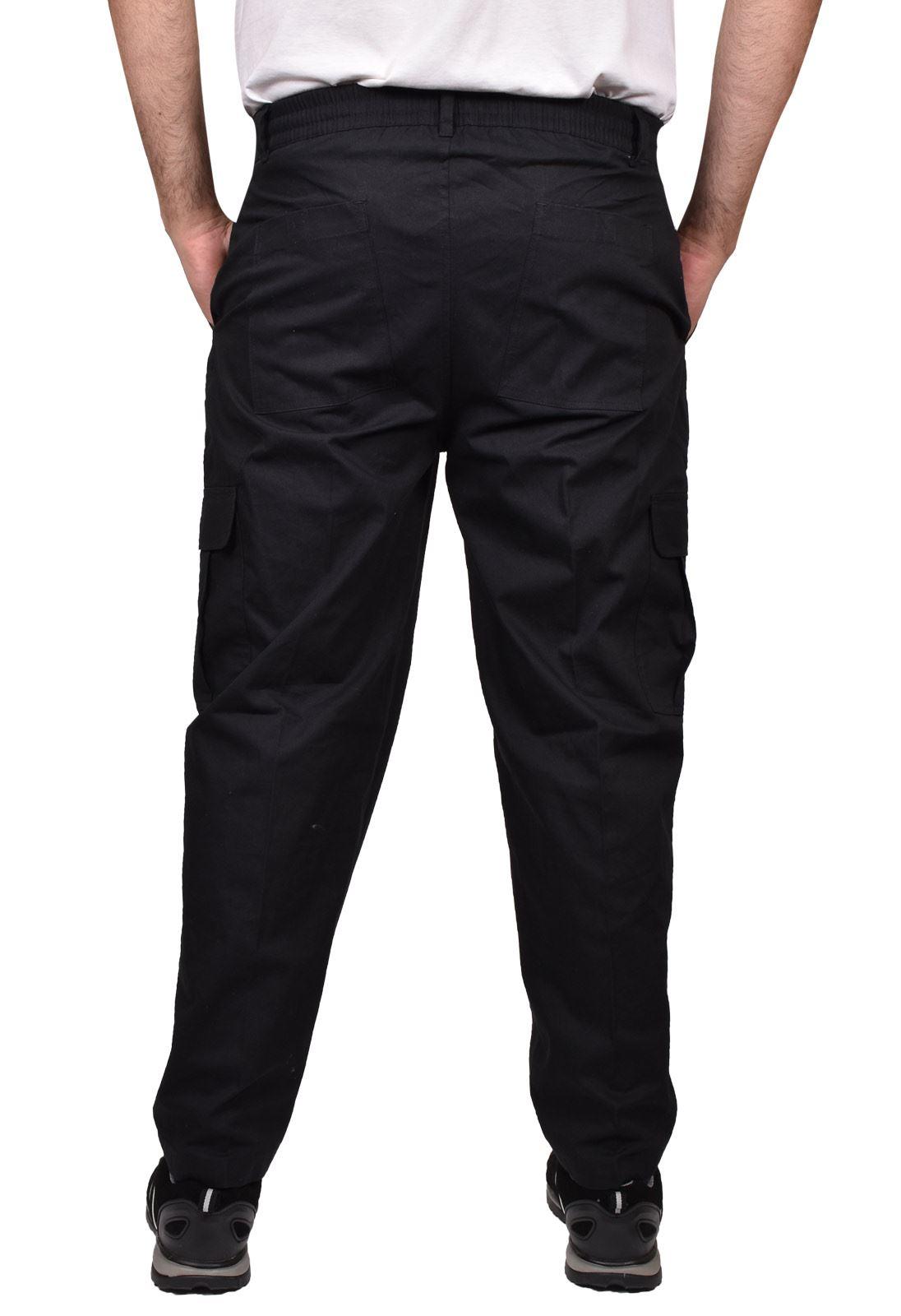 Para-Hombre-De-Carga-Combate-Pantalones-De-Trabajo-Bolsillos-Patrulla-Tactico-Pro-Algodon-Pantalones miniatura 4