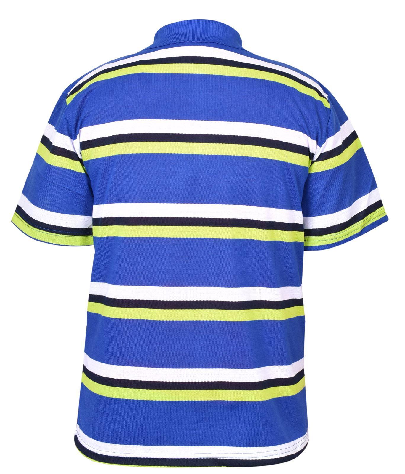 Mens-T-Shirts-Yarn-Dyed-Strip-Pocket-Polo-Shirt-Top-Multi-Colour-Size-M-3XL thumbnail 38