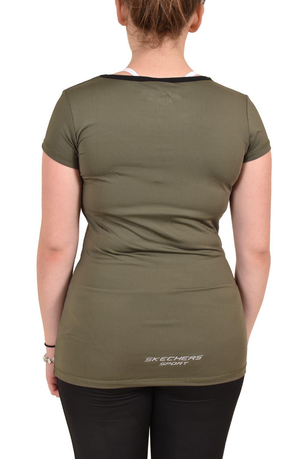 Camiseta-para-mujer-Skechers-Secado-Rapido-Top-senoras-de-Deportes-Activewear-Gimnasio-Fitness-Dance miniatura 8