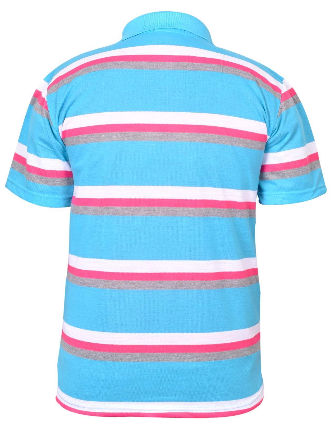 Mens-T-Shirts-Yarn-Dyed-Strip-Pocket-Polo-Shirt-Top-Multi-Colour-Size-M-3XL thumbnail 44