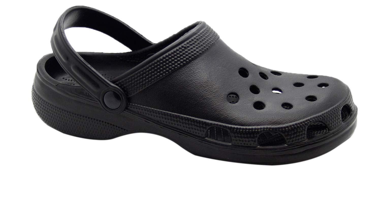 Para Hombre Mulas Zuecos Playa de trabajo de jardín Hospital Zapatos de la sandalia a prueba de agua
