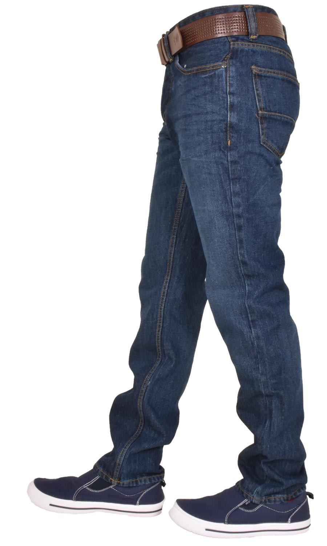 Crosshatch-Men-Jeans-Regular-Straight-Leg-Open-Hem-Trousers-Pants-With-Free-Belt thumbnail 9