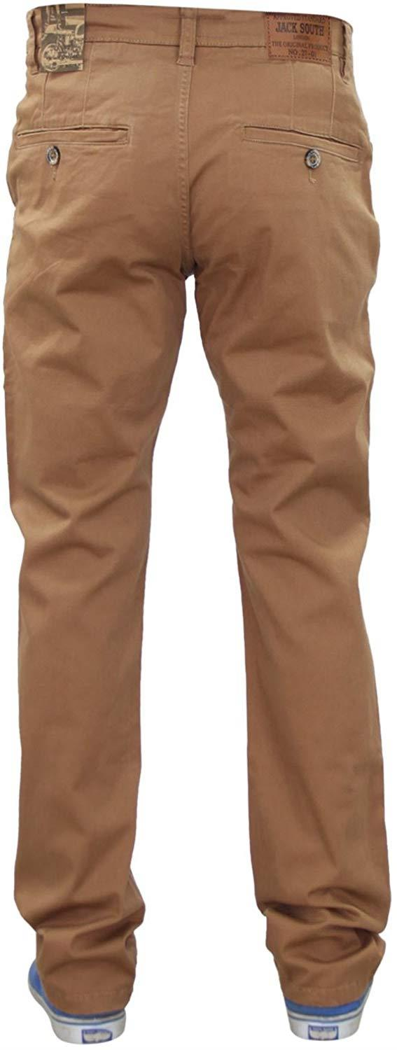Men-Chinos-Regular-Fit-Jeans-Cotton-Stretch-Casual-Pants-Trousers-All-Waist-Size thumbnail 18