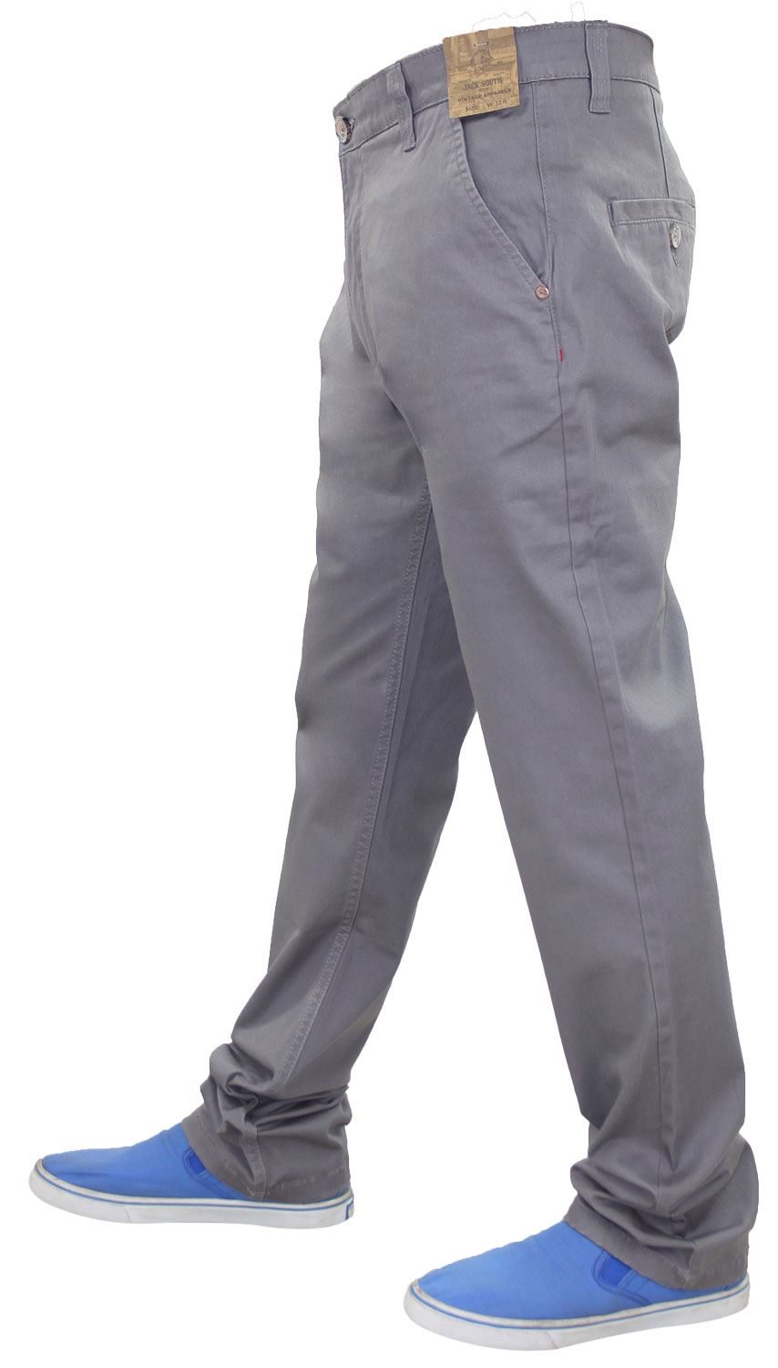 Jacksouth-Mens-Chinos-Trousers-Regular-Fit-Stretch-Cotton-Rich-Twill-Jeans-Pants thumbnail 9