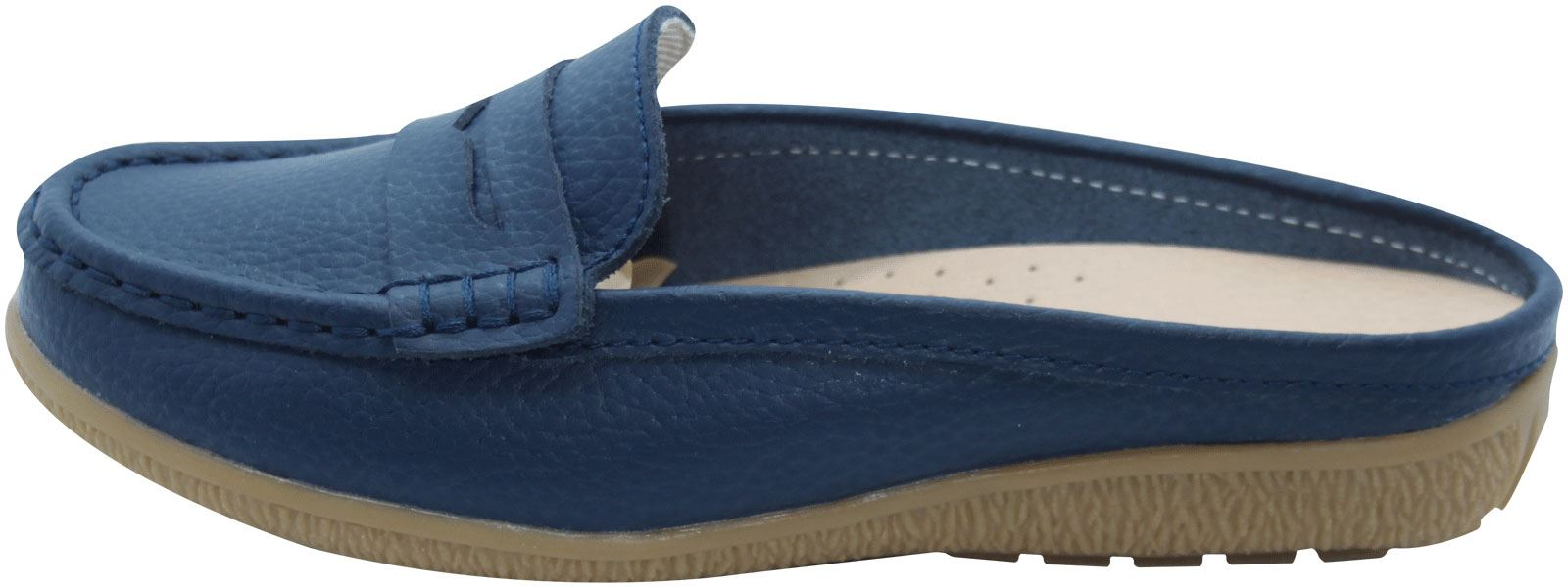 Ladies-Leather-Loafer-Mules-Comfort-Shoes-Womens-Slider-Moccasins-Shoes thumbnail 8