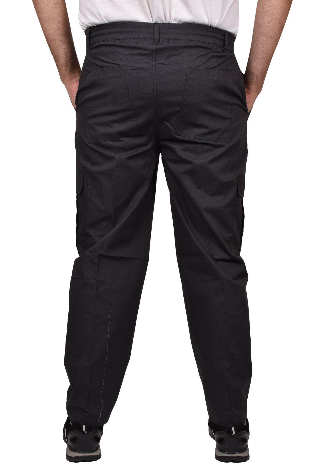 Para-Hombre-De-Carga-Combate-Pantalones-De-Trabajo-Bolsillos-Patrulla-Tactico-Pro-Algodon-Pantalones miniatura 8