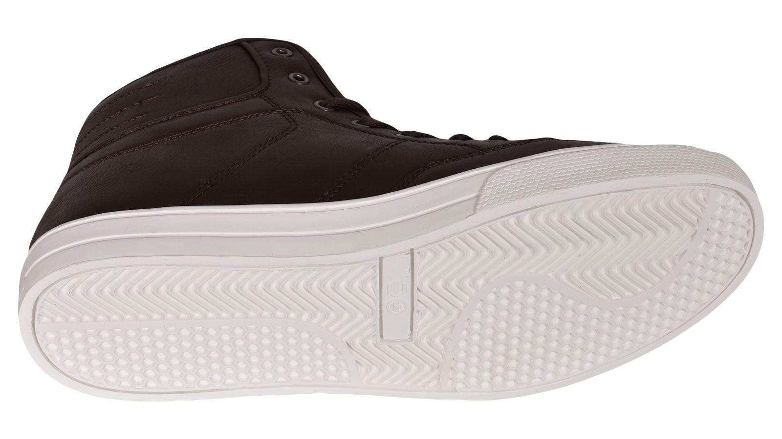 Crosshatch-Para-hombre-Tobillo-Alto-Zapatillas-Sneaker-Con-Cordones-Tapas-Planas-Botas-UK-Tamanos-7 miniatura 54